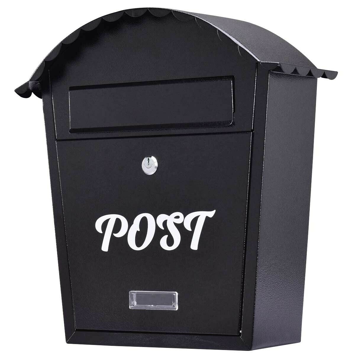 Large Lockable Outside Classic Letterbox Wall Mounted