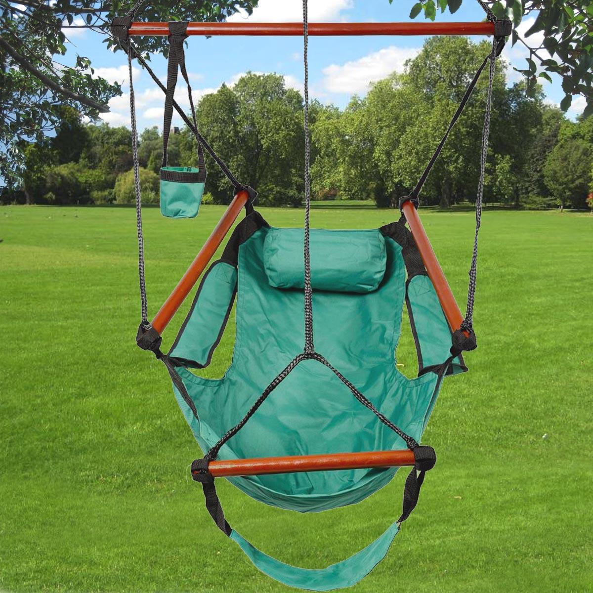green swing outdoor hanging hammock swing chair w