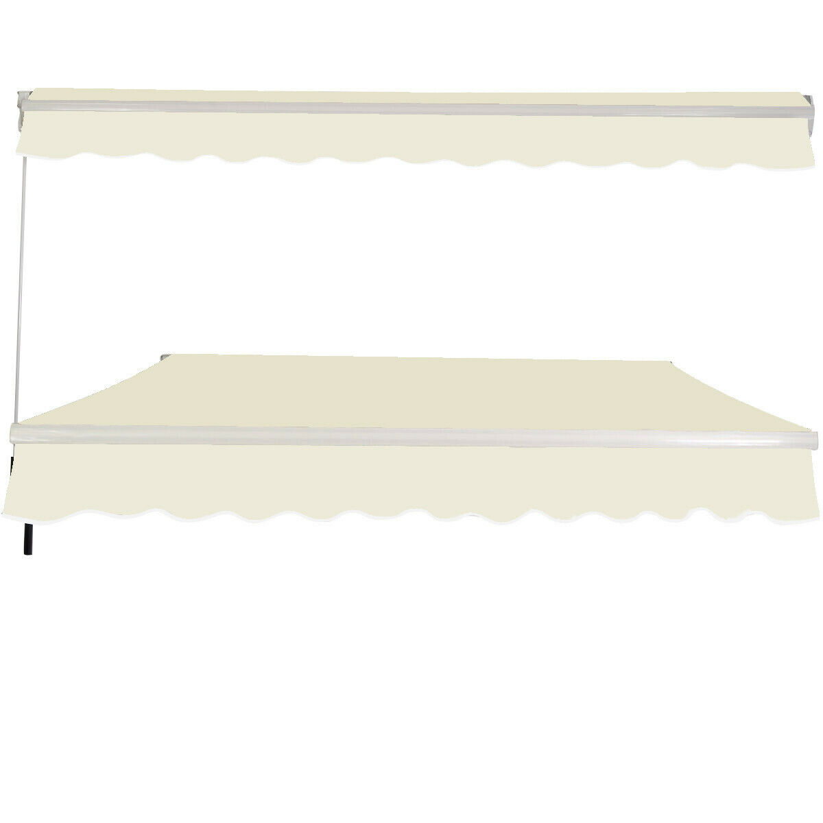 Retractable Manual Awning Canopy Patio Shade Shelter