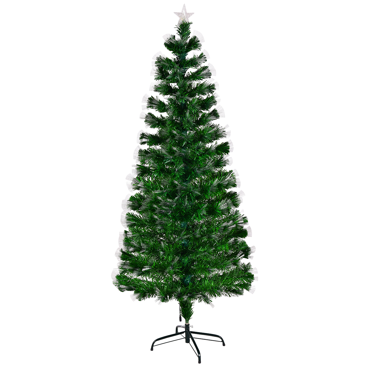 6ft Fibre Optic Christmas Tree with Top Star