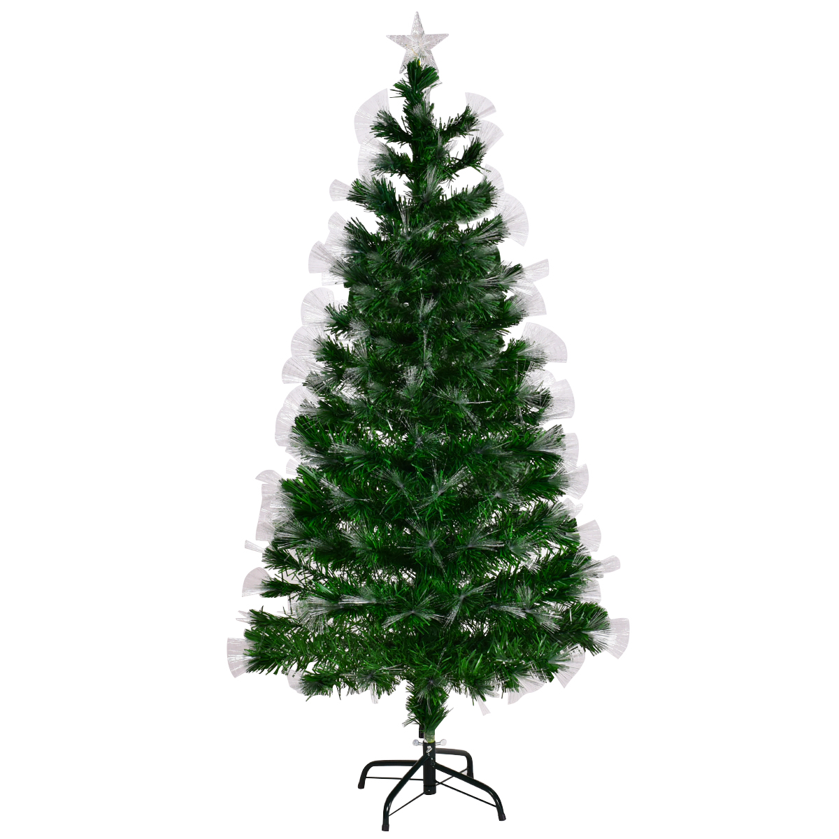 90241ec67193 5ft Fiber Optic Artificial Christmas Tree LED Blossom Effects W/ Top Star -  Seasonal & Holiday Decorations - Decor - Home & Garden