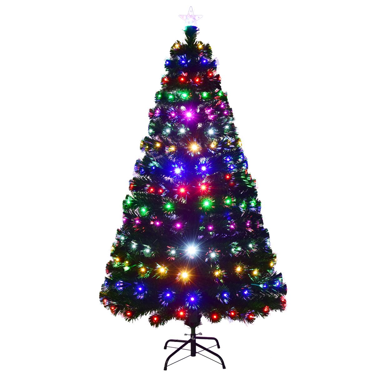 Multi-coloured Fibre Optic Christmas Tree